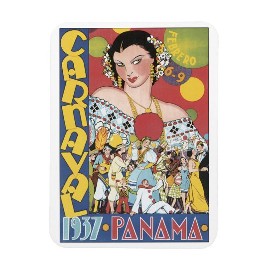 Carnival 1937 Panama Rectangular Photo Magnet
