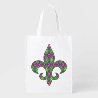 Carnival Argyle Reusable Grocery Bag