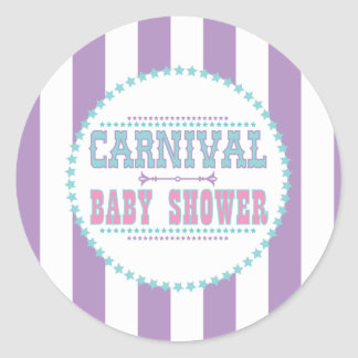 Carnival Baby Shower Stickers