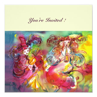 CARNIVAL BALLET / Venetian Masquerade, Dance Music 13 Cm X 13 Cm Square Invitation Card