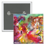 CARNIVAL BALLET / Venetian Masquerade,Dance,Music 15 Cm Square Badge