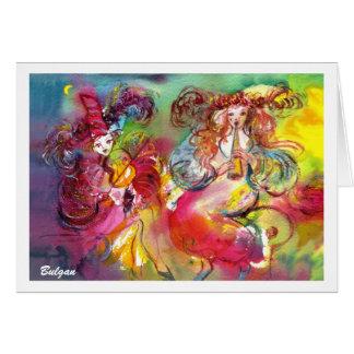 CARNIVAL BALLET / Venetian Masquerade,Dance,Music Greeting Card