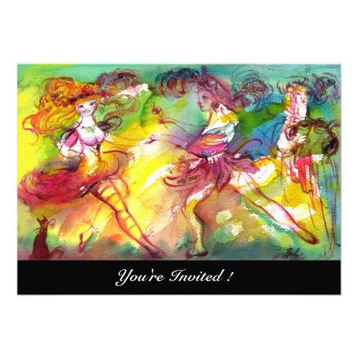 CARNIVAL BALLET / Venetian Masquerade, Dance Music Personalized Invitations