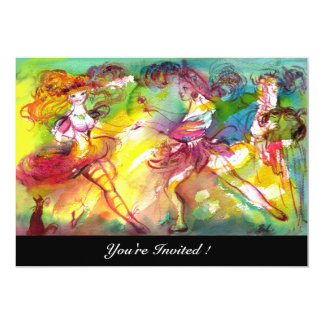 CARNIVAL BALLET / Venetian Masquerade, Dance Music Personalized Invitations