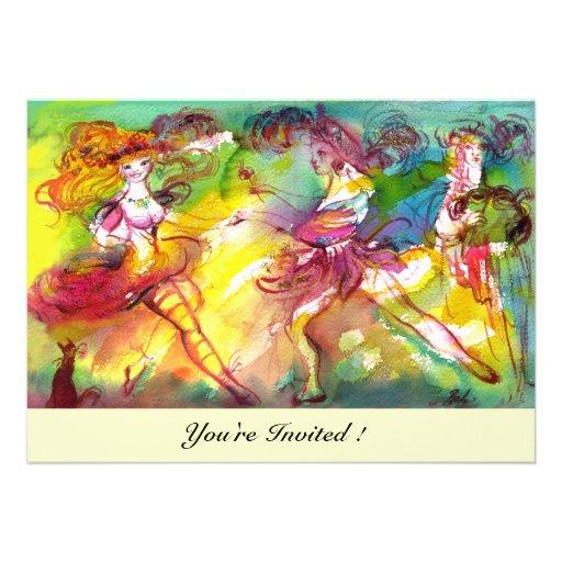 CARNIVAL BALLET / Venetian Masquerade, Dance Music Custom Invitations
