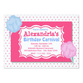 "Carnival Birthday 5"" X 7"" Invitation Card"