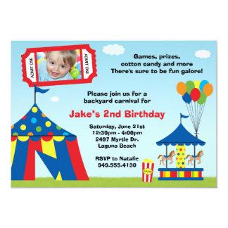 Carnival Birthday Party Invitation