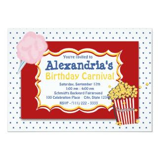 Carnival Birthday Primary Colors 13 Cm X 18 Cm Invitation Card