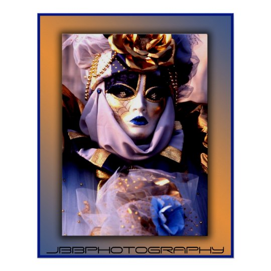 carnival blue gold poster