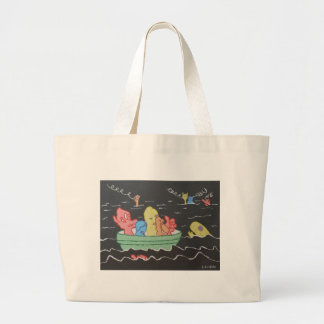 Carnival Boat Ride Large Tote Bag