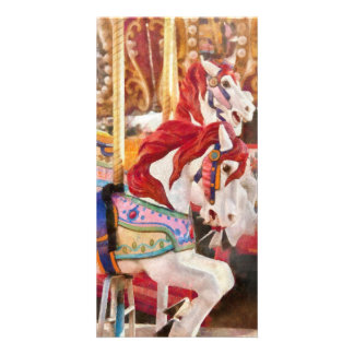 Carnival - Carousel Horses Picture Card