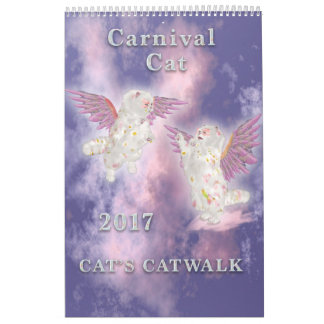 Carnival Cat 2017 Single Page Wall Calendars
