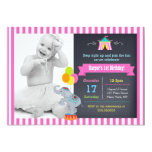 Carnival Circus Bigtop Birthday Invitations Girl