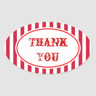 Carnival Circus Party Thank You Stickers