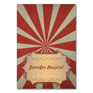 Carnival circus tented place cards - name cards table cards