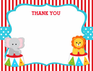 Circus Thank You Invitations Announcements Zazzle Uk