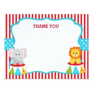 Carnival Circus Thank You Notes Cards 11 Cm X 14 Cm Invitation Card
