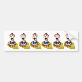 Carnival Clown Bumper Sticker