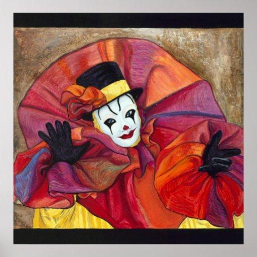 Carnival Clown Poster