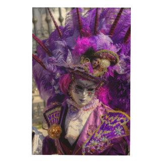 Carnival Costume, Venice Wood Print