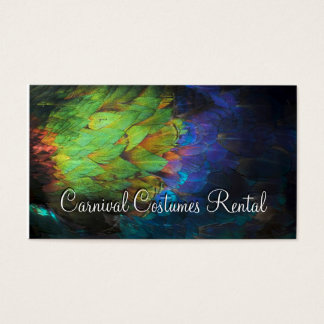Carnival Costumes Rental Colored Feathers Card