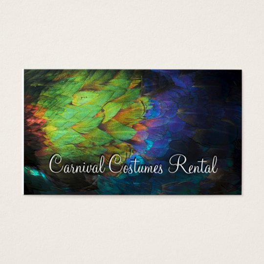 Carnival Costumes Rental Coloured Feathers Card