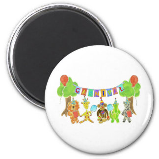 Carnival Critters 6 Cm Round Magnet