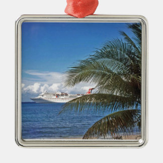 Carnival cruise ship docked at Grand Cayman Island Christmas Ornament