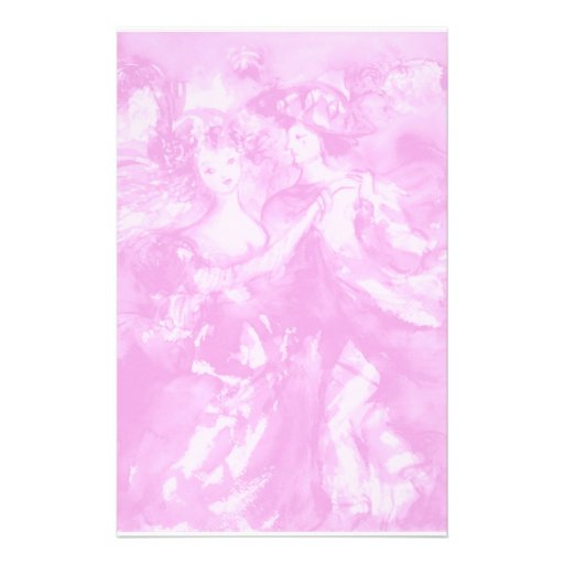 CARNIVAL DANCE 2 ,soft antique pink Personalized Stationery