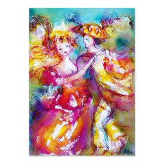 CARNIVAL DANCE 2, vibrant pink blue Custom Announcements
