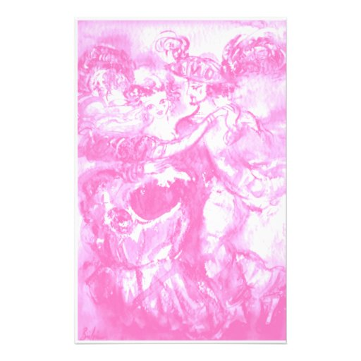 CARNIVAL DANCE ,bright  pink white Customized Stationery