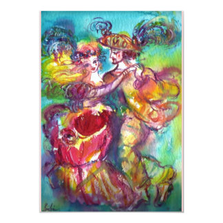 CARNIVAL DANCE,Mardi Gras Party, vibrant pink blue Announcements