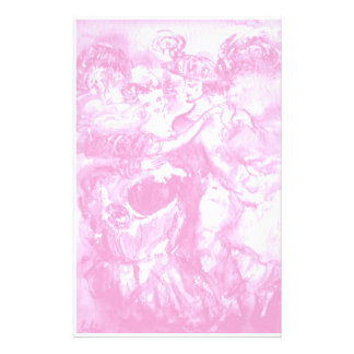 CARNIVAL DANCE , pink white Customized Stationery