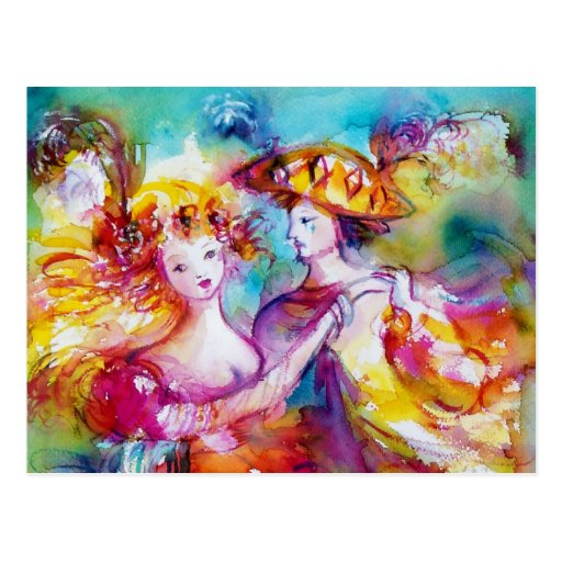 CARNIVAL DANCE POST CARD