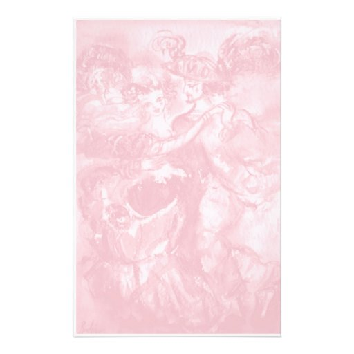 CARNIVAL DANCE ,soft antique pink 2 Customized Stationery