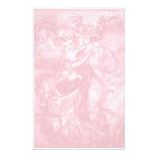 CARNIVAL DANCE ,soft antique pink 2 Stationery Design