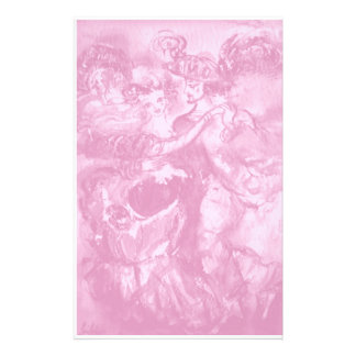 CARNIVAL DANCE ,soft antique pink Customized Stationery