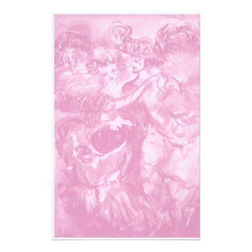CARNIVAL DANCE ,soft antique pink Stationery Design