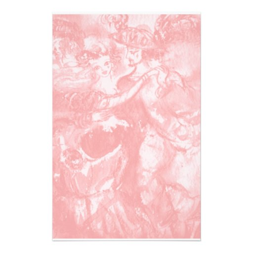 CARNIVAL DANCE ,soft  antique pink Stationery Paper