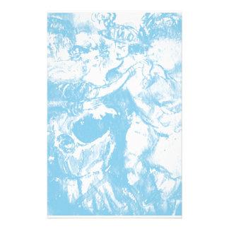 CARNIVAL DANCE ,soft blue white Custom Stationery