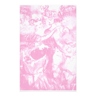 CARNIVAL DANCE ,soft  pink white Customized Stationery