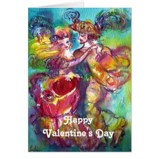 CARNIVAL DANCE Valentine's Day Red Heart Wax Seal Greeting Card