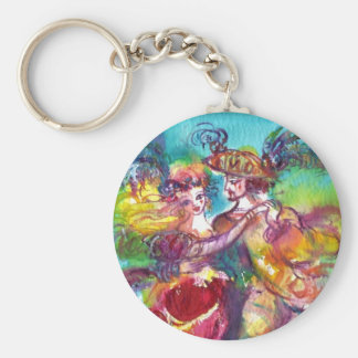 CARNIVAL DANCE Venetian Masquerade Ball Basic Round Button Key Ring
