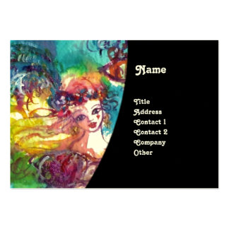 CARNIVAL DANCE / Venetian Masquerade Ball ,Black Pack Of Chubby Business Cards