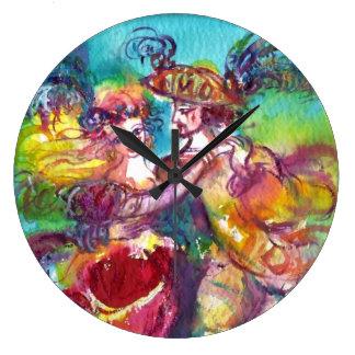 CARNIVAL DANCE Venetian Masquerade Ball Clock