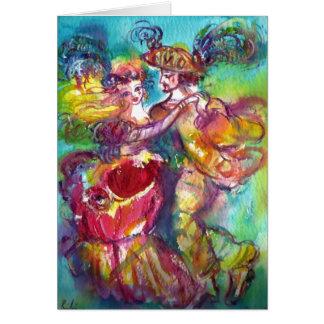 CARNIVAL DANCE / Venetian Masquerade Ball Greeting Card