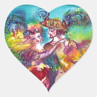 CARNIVAL DANCE Venetian Masquerade Ball Heart Sticker
