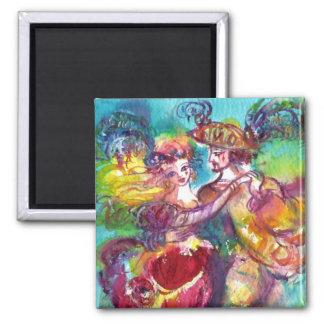 CARNIVAL DANCE Venetian Masquerade Ball Refrigerator Magnet