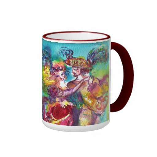 CARNIVAL DANCE Venetian Masquerade Ball Coffee Mug