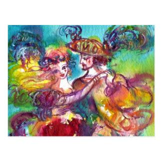 CARNIVAL DANCE Venetian Masquerade Ball Post Cards